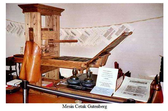 Image result for mesin cetak gutenberg